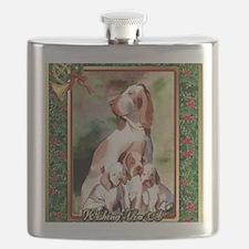 Bracco Italiano Dog Christmas Flask