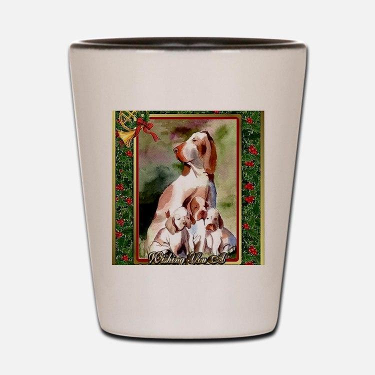 Bracco Italiano Dog Christmas Shot Glass