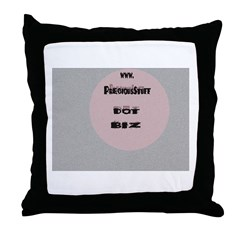Precious Stuff Dot Biz Throw Pillow