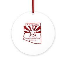 Arizona The Grand Canyon State Round Ornament