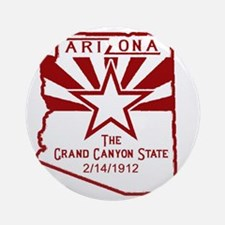 Arizona The Grand Canyon State Round Ornament