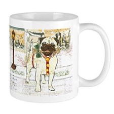 Holiday Pug Small Mug