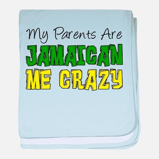 Parents Jamaican Me Crazy baby blanket