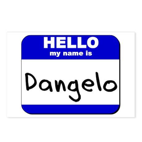 hello my name is dangelo Postcards (Package of 8)