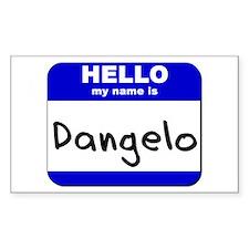 hello my name is dangelo Rectangle Decal