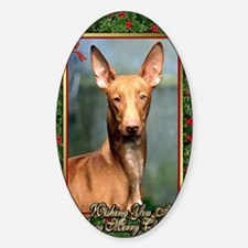 Pharoah Hound Dog Christmas Sticker (Oval)