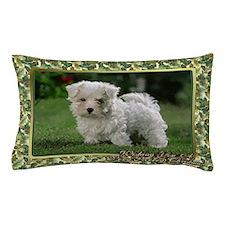 Maltese Dog Christmas Pillow Case