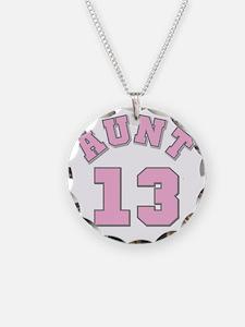Pink Aunt 13 Necklace