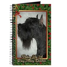 Giant Schnauzer Dog Christmas Journal