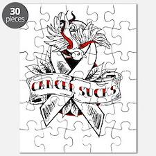 Cancer Sucks Tattoo  Puzzle