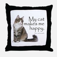 Not So Much Cat Throw Pillow