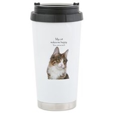 Not So Much Cat Travel Mug
