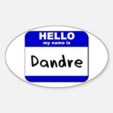 hello my name is dandre Oval Decal