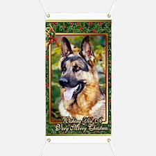 German Shepherd Dog Christmas Banner