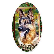 German Shepherd Dog Christmas Decal