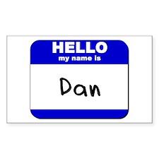 hello my name is dan Rectangle Decal