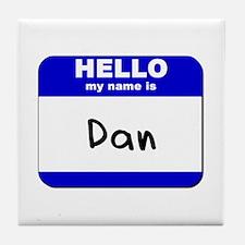 hello my name is dan  Tile Coaster
