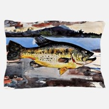 Winslow Homer - Bass, Winslow Homer fi Pillow Case