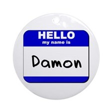 hello my name is damon  Ornament (Round)
