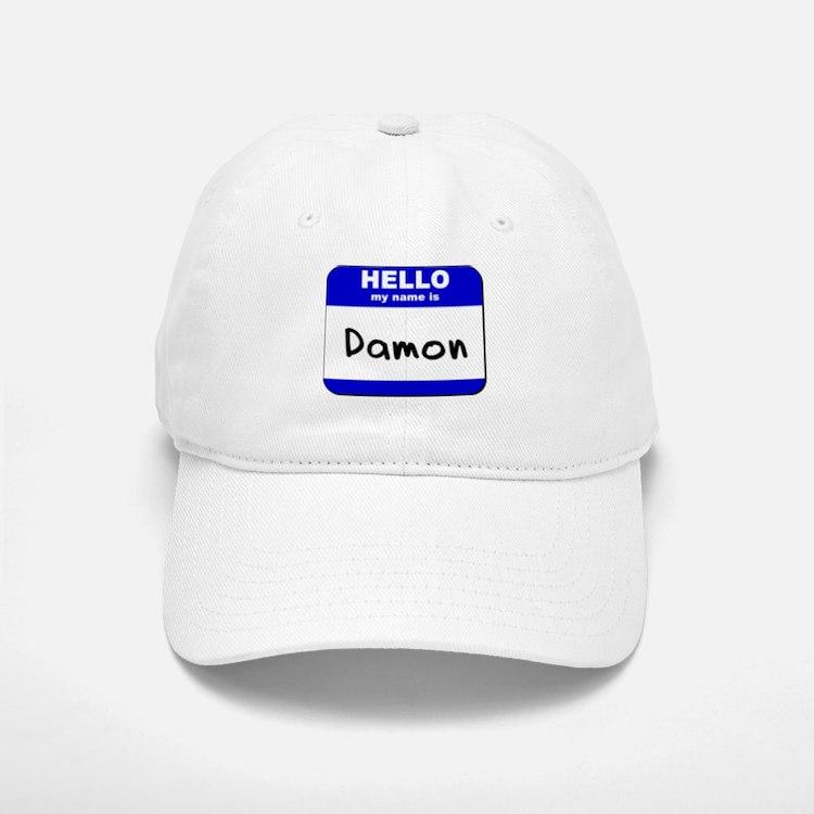 hello my name is damon Baseball Baseball Cap