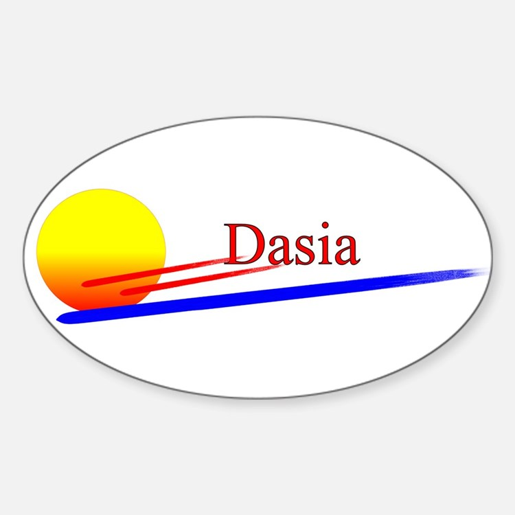 Dasia Oval Decal