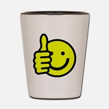 THUMBS UP , SMILEY FACE Shot Glass