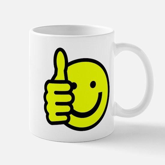 THUMBS UP , SMILEY FACE Mug