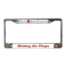 Licking the Chops License Plate Frame