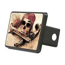 Grunge Pirate Skull Hitch Cover