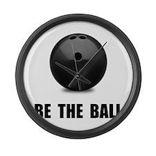 Be Ball Bowling Large Wall Clock