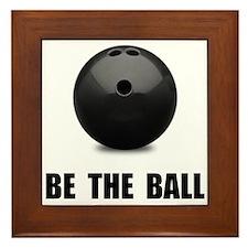 Be Ball Bowling Framed Tile