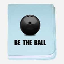Be Ball Bowling baby blanket