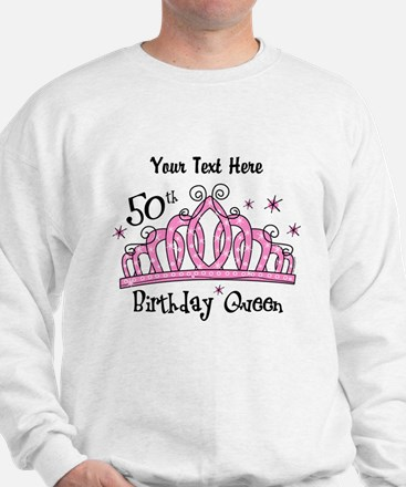 Personalized Tiara 50th Birthday Queen Sweater