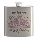 50th birthday princess Flask Bottles