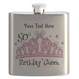 50th birthday princess Flasks