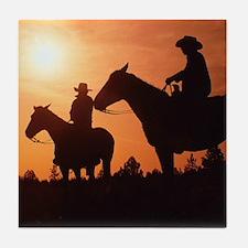 Western Horseback Tile Coaster