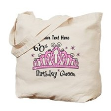 Personalized Tiara 60th Birthday Queen Tote Bag