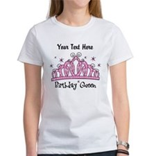 Personalized Tiara Birthday Queen Tee