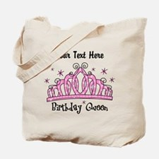 Personalized Tiara Birthday Queen Tote Bag