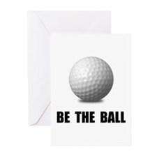 Be Ball Golf Greeting Cards
