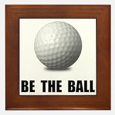 Be Ball Golf Framed Tile