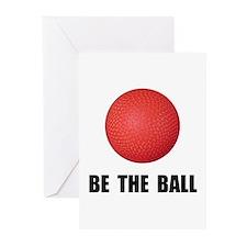 Be Ball Kickball Greeting Cards