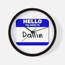 hello my name is dallin  Wall Clock