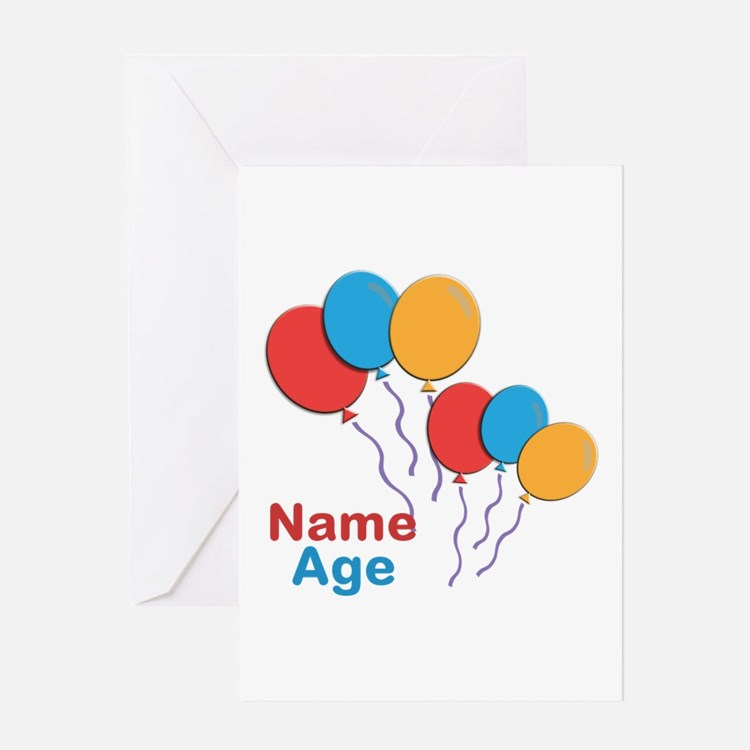 CUSTOMIZE Happy Birthday Any Age Greeting Cards