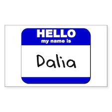 hello my name is dalia Rectangle Decal