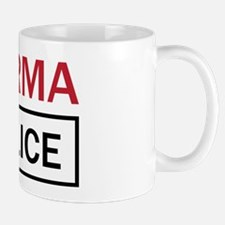 OK Computer Karma Police red and black Mug