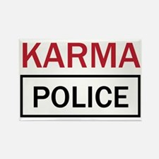 OK Computer Karma Police red and  Rectangle Magnet