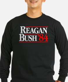 Reagan Bush '84 Campaign Long Sleeve T-Shirt