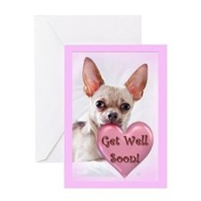 Get Well soon chihuahua dog Greeting Cards