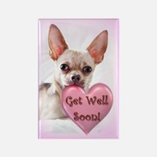 Get Well Soon Chihuahua Dog Magnets